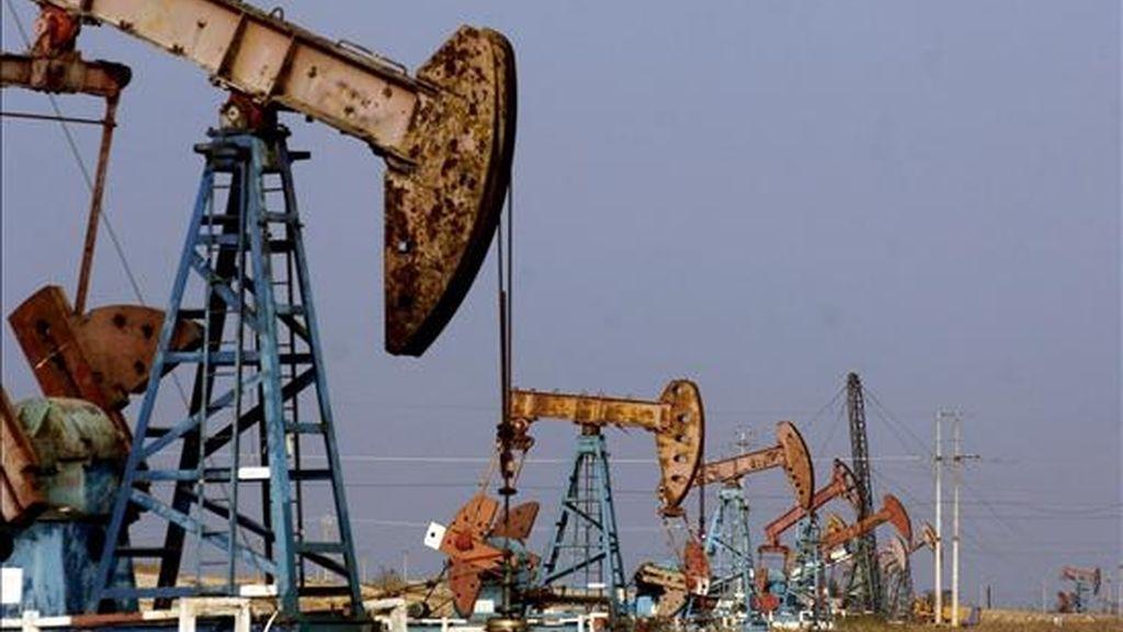 Tras marcar el pasado julio un máximo histórico que superó los 147 dólares, el petróleo se ha abaratado más de 100 dólares, lastrado sobre todo por el descenso de la demanda por parte de los países consumidores como consecuencia de la crisis económica. EFE/Archivo