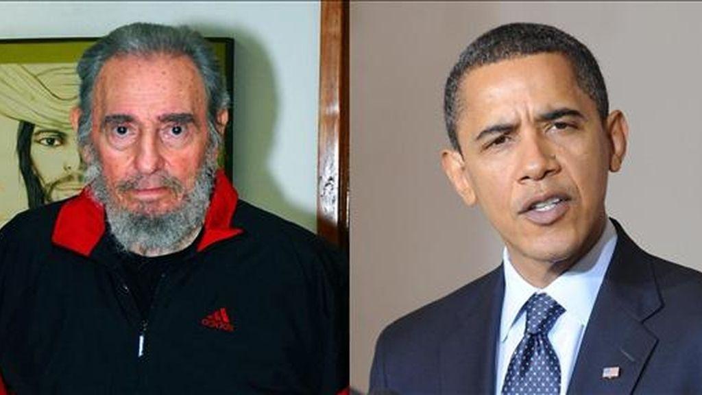 """El convaleciente líder cubano Fidel Castro aseguró que hay """"contradicciones"""" entre la ética y la política del nuevo presidente de Estados Unidos, Barck Obama. EFE/Archivo"""