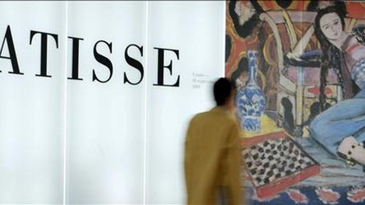 Aspecto de la exposición que el Museo Thyssen-Bornemisza de Madrid dedica a la obra que Henri Matisse realizó en lo que fue el tramo central de su carrera, desde 1917 a 1941, periodo de la trayectoria del artista al que se ha prestado menos atención. EFE