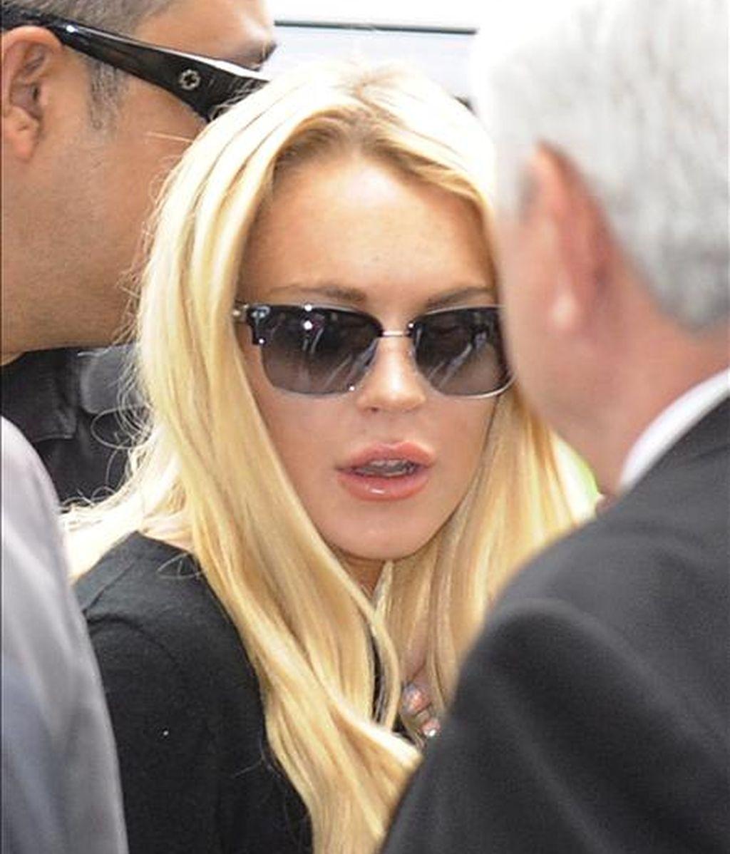 Lindsay Lohan se alojó el miércoles por la noche en Pickford Lofts, una institución para el tratamiento de adicciones creada en Los Ángeles (EE.UU.) por el abogado de famosos Robert Shapiro. EFE/Archivo