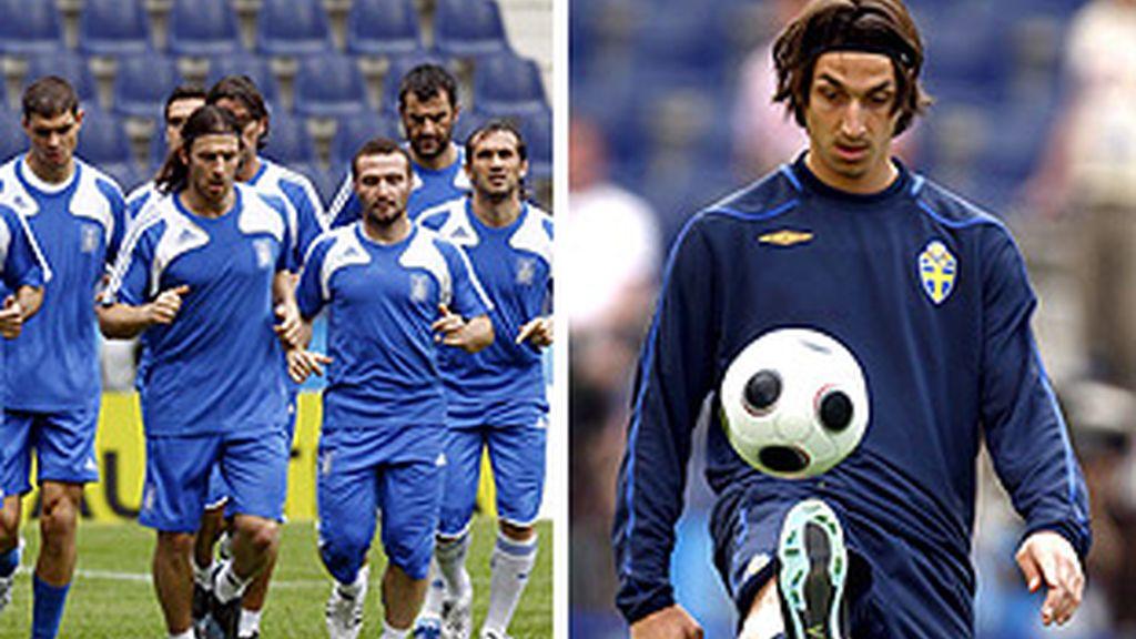 Un hombre desvela a los vigentes campeones: Ibrahimovic. FOTOS: EFE.