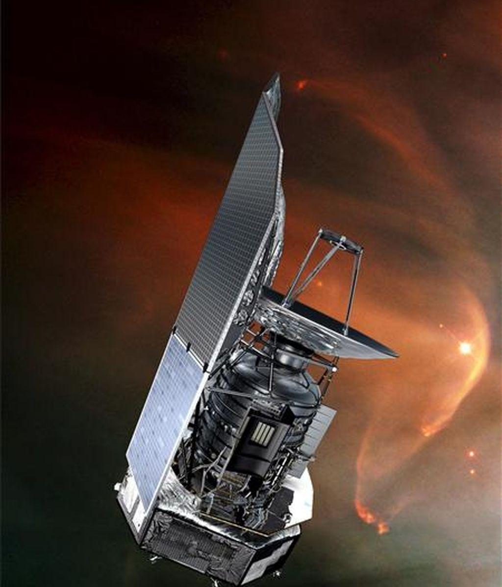 Simulación sin fechar de la Agencia Espacial Europea (ESA) que muestra el satélite espacial Herschel. EFE/ESA /AOES Medialab