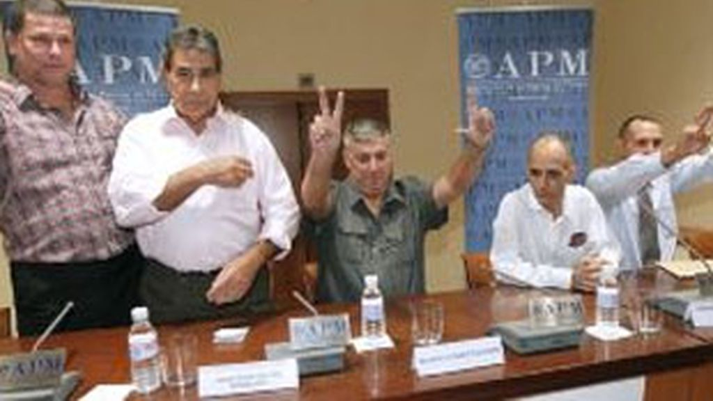 Los primeros presos políticos cubanos en España, en una foto de archivo. Foto: EFE
