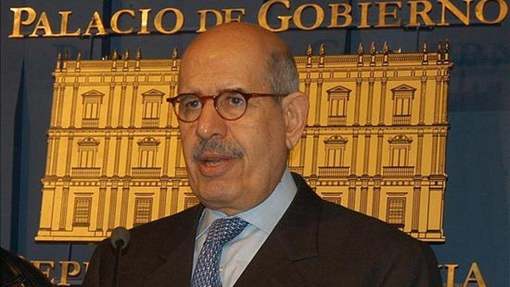 El director del Organismo Internacional de Energía Atómica (OIEA), el egipcio Mohamed El Baradei, el pasado 27 de marzo en la Paz, Bolivia. EFE/Archivo
