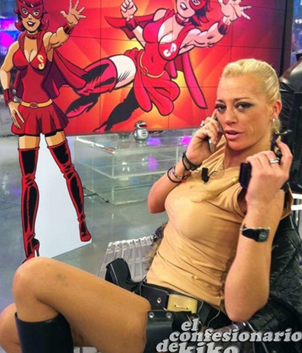 Belén Croft Esteban, al teléfono