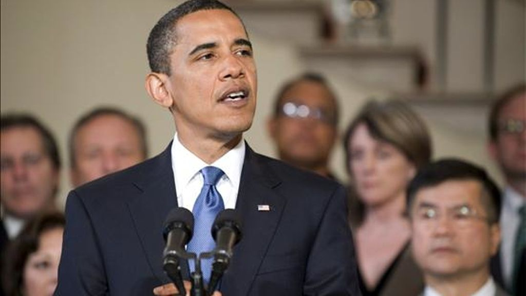 """El presidente de EE.UU., Barack Obama, expuso el plan para la bancarrota de General Motors, que -dijo- es """"viable"""" y dará a la compañía """"la oportunidad de renacer"""". EFE"""