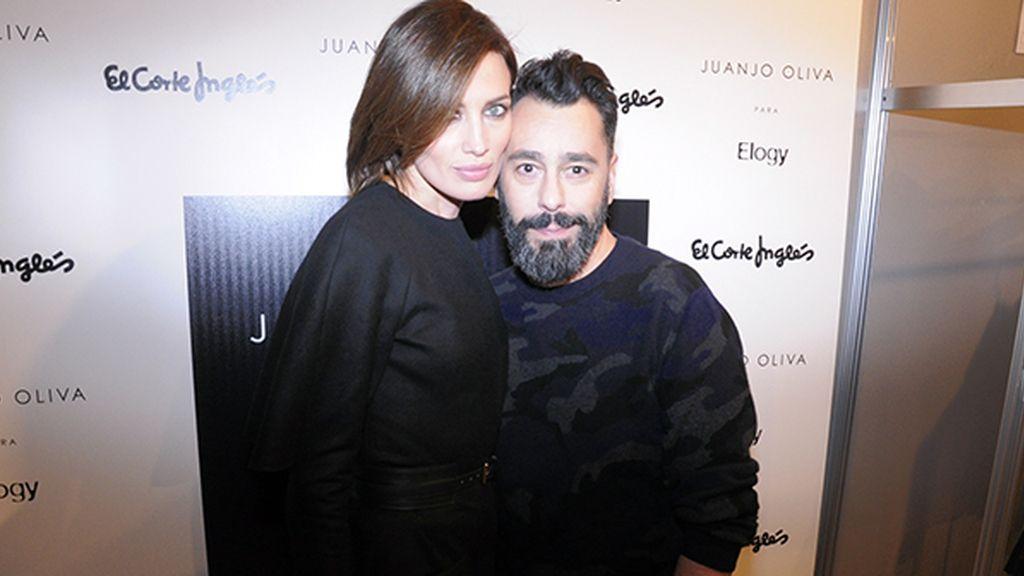 Nieves Álvarez no podía faltar en el desfile de su amigo Juanjo Oliva