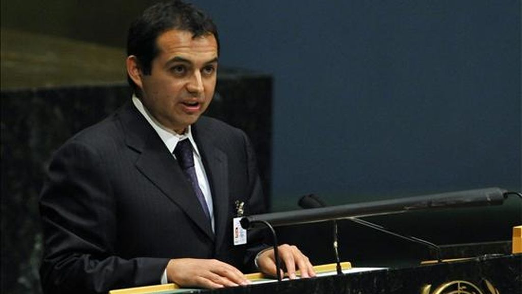 El ministro de Desarrollo Social de México, Ernesto Cordero Arroyo, habla en la sede de las Naciones Unidas de Nueva York (EEUU), durante una asamblea general sobre la crisis económica y financiera global y su impacto en el desarrollo. EFE