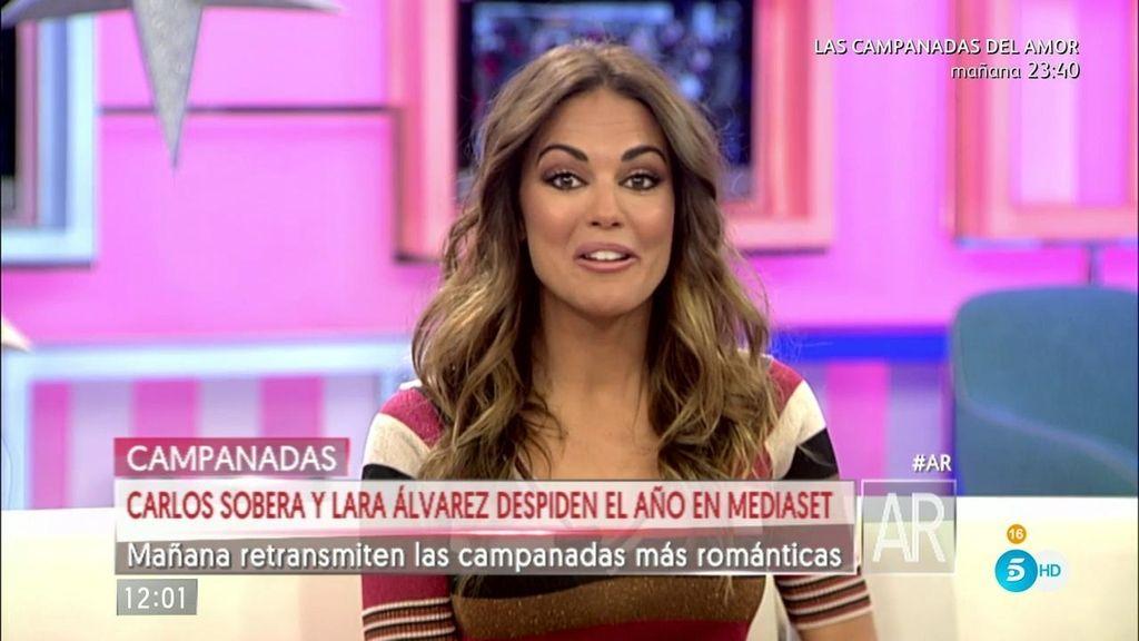 Con transparencias, largo... ¡Lara Álvarez nos cuenta cómo es su vestido de Nochevieja!