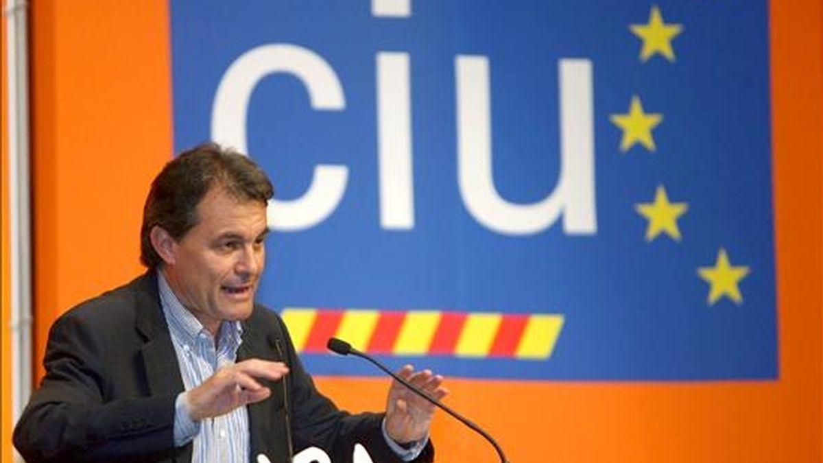 El presidente de CiU, Artur Mas. EFE/Archivo