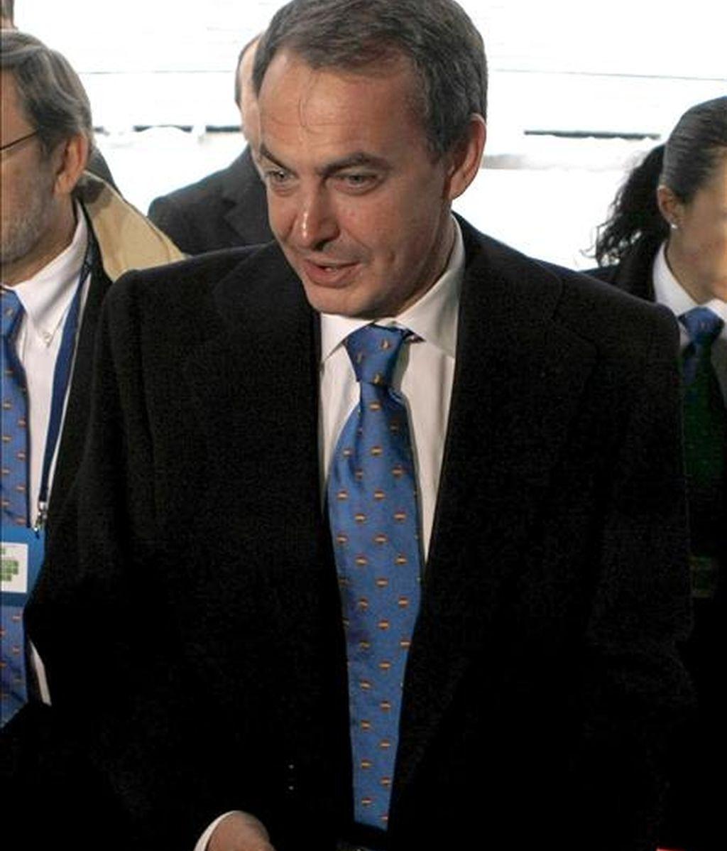 El presidente español, José Luis Rodriguez Zapatero. EFE