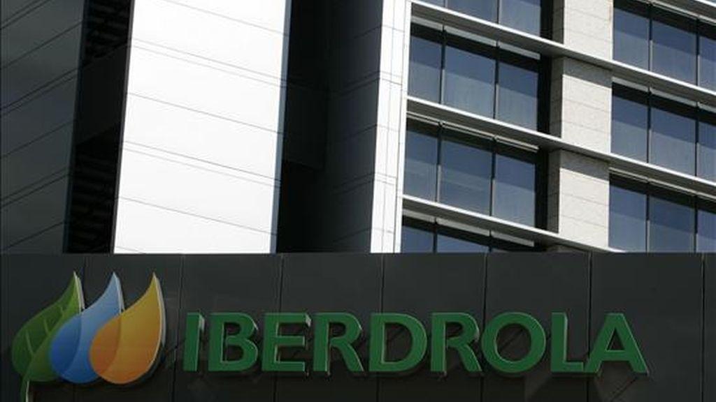 Vista parcial del edificio de la empresa energética Iberdrola en Madrid. EFE