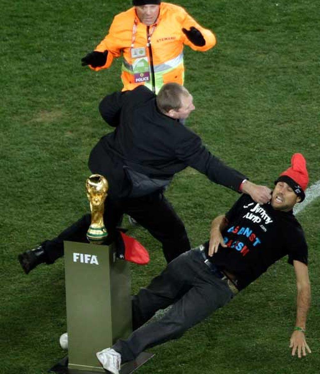 Jimmy Jump, en la final del Mundial