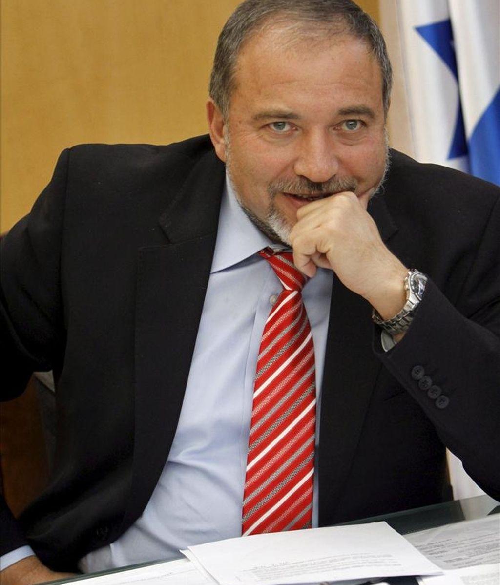 El ministro israelí de Asuntos Exteriores, Avigdor Liberman. EFE/Archivo