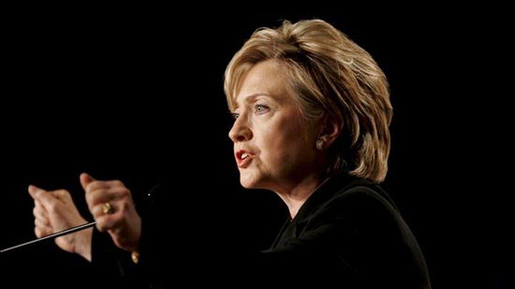 """La secretaria de Estado de EE.UU., Hillary Clinton, instó a los paquistaníes a que """"denuncien enérgicamente una política que está cediendo más y más terreno"""" a insurgentes que intentan derrocar al Gobierno. EFE/Archivo"""