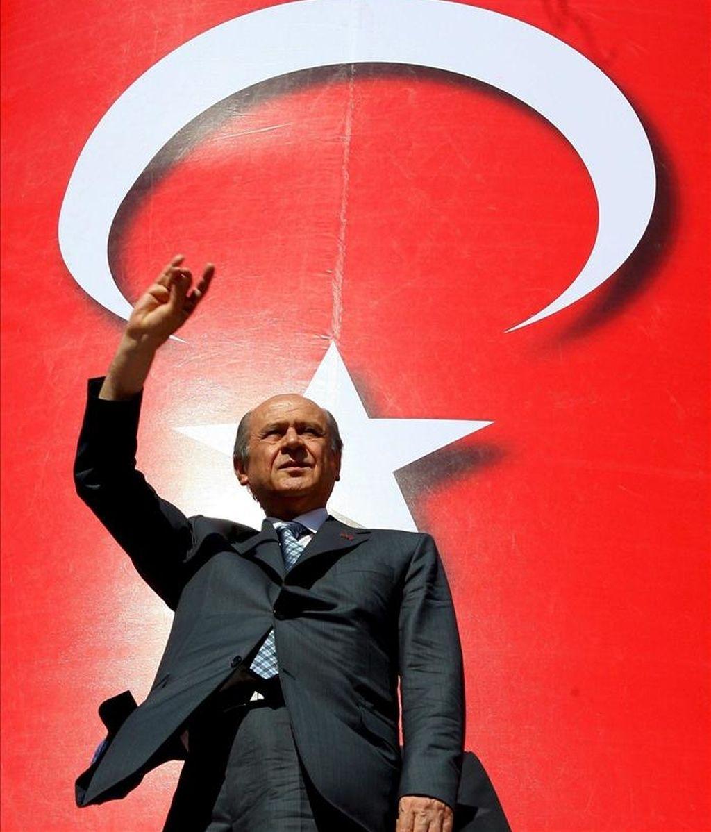 El líder del artido de Acción Nacionalista (MHP) Dr. Devlet Bahceli. EFE/Archivo