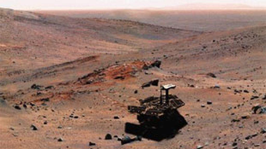 El Spirit recoge muestras en Marte. Foto: AP