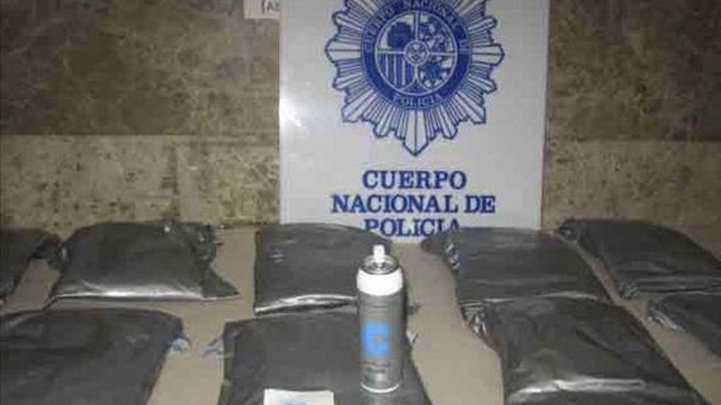 Un alijo de droga intervenido por la Policía Nacional. EFE/Archivo