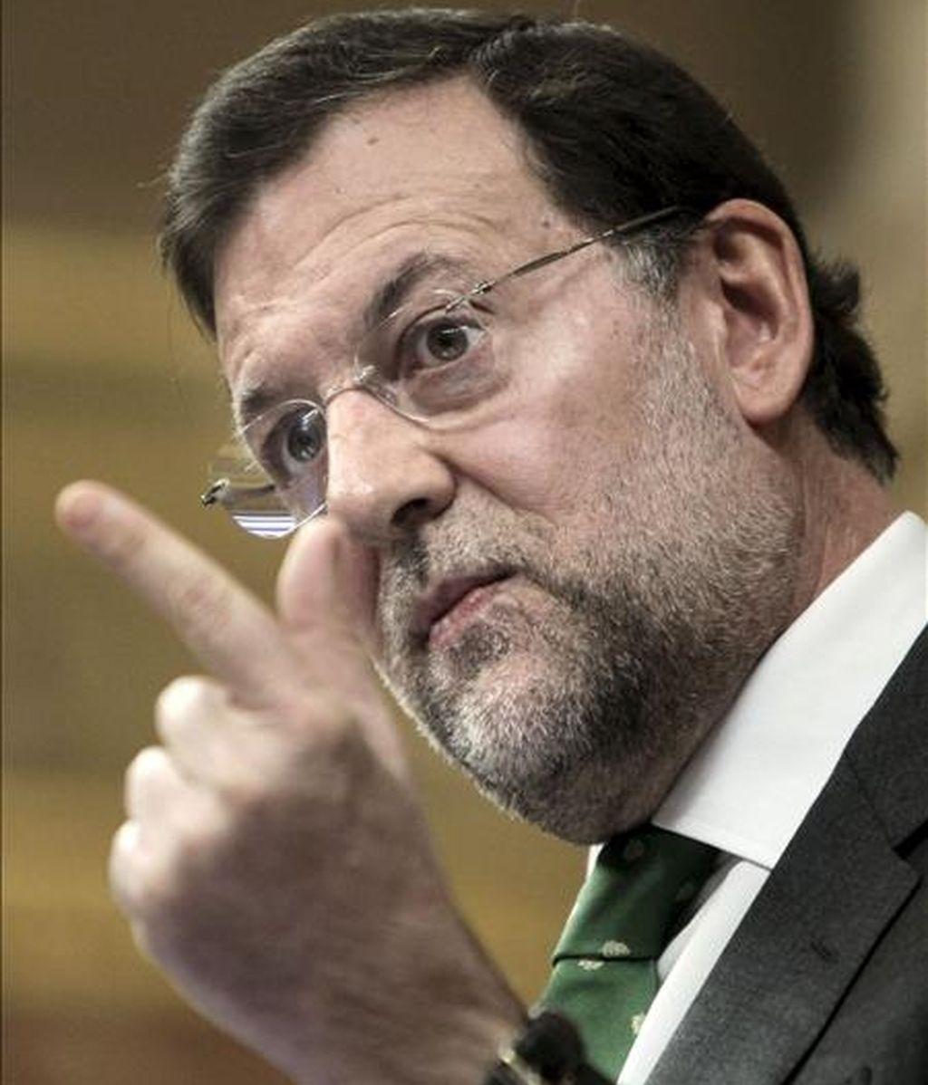 En la imagen, el presidente del Partido Popular, Mariano Rajoy. EFE/Archivo