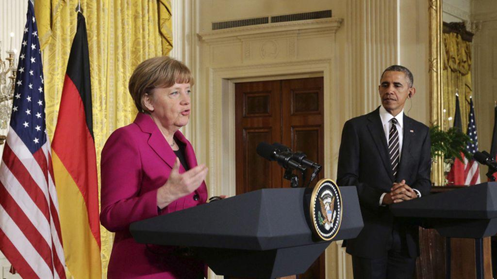Angela Merkel se reúne con Obama