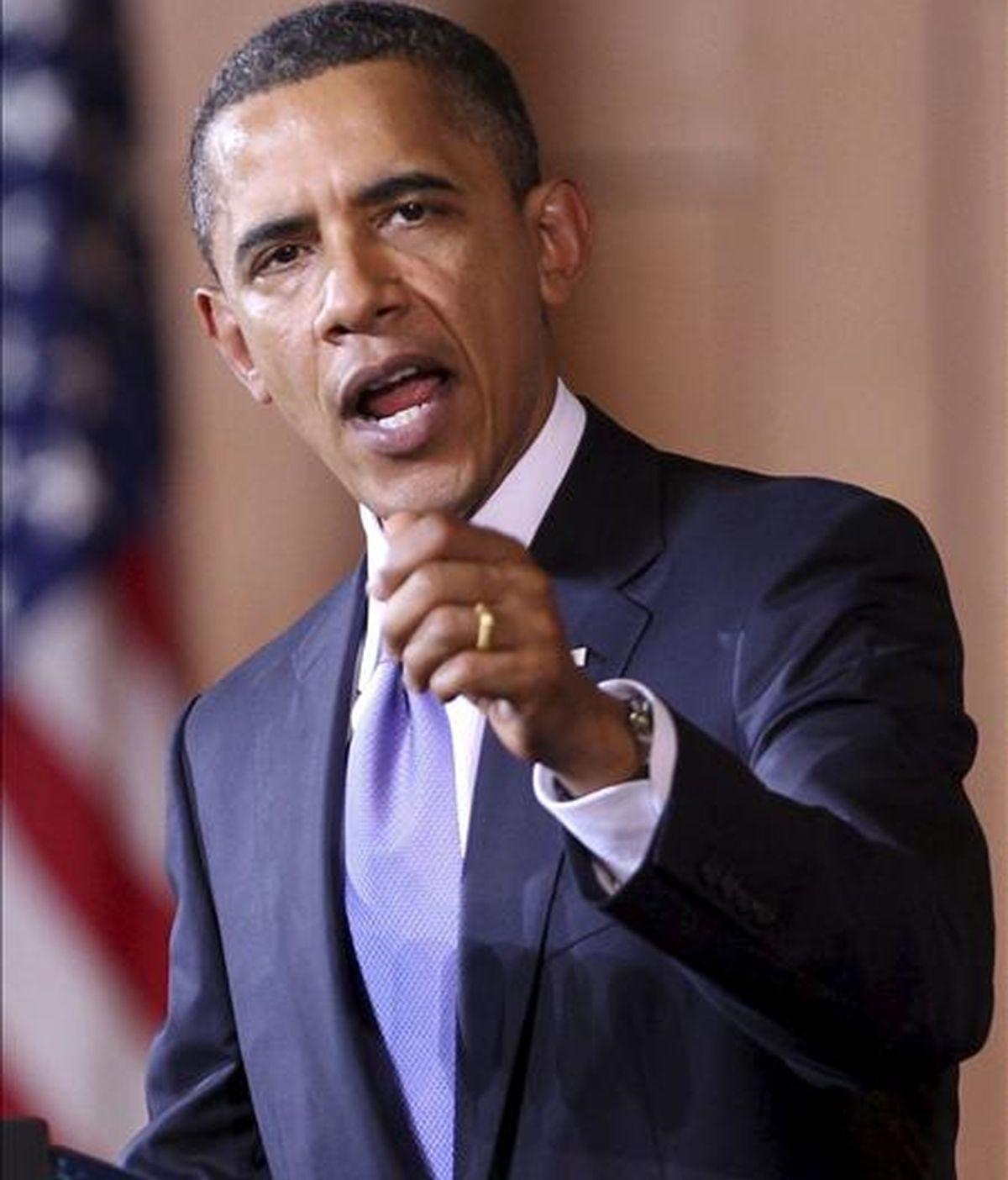 El presidente de Estados Unidos, Barack Obama,  reconoció ayer, en una declaración política, que hay momentos en que hay que hacer concesiones dolorosas por el bien de los estadounidenses. EFE/Archivo