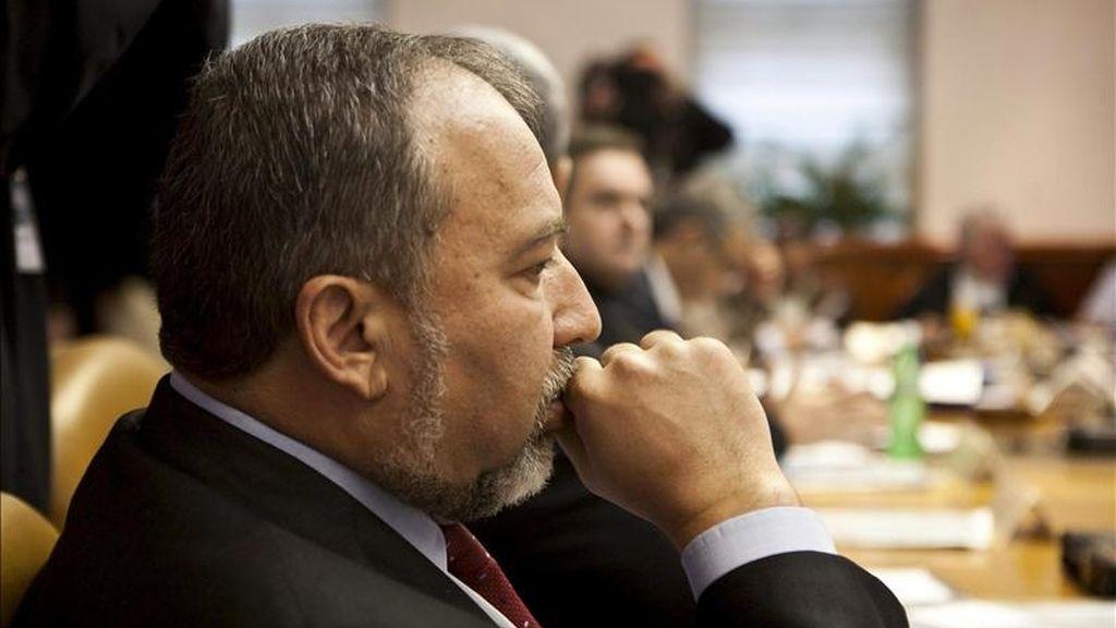 El ministro israelí de Asuntos Exteriores, Avigdor Lieberman, durante una reunión. EFE/Archivo