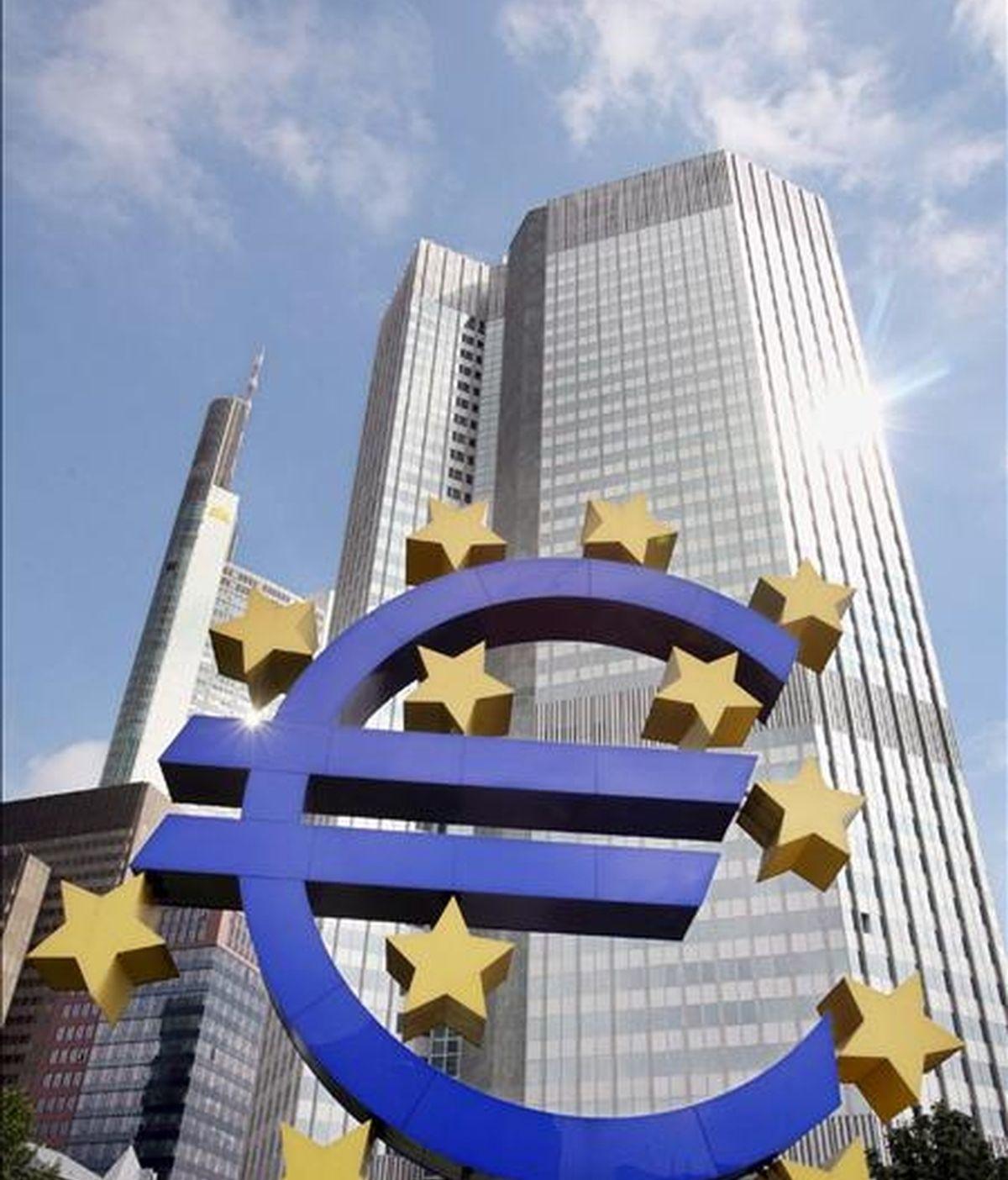 Fachada de la sede del Banco Central Europeo (BCE) en Fráncfort (Alemania). EFE/Archivo