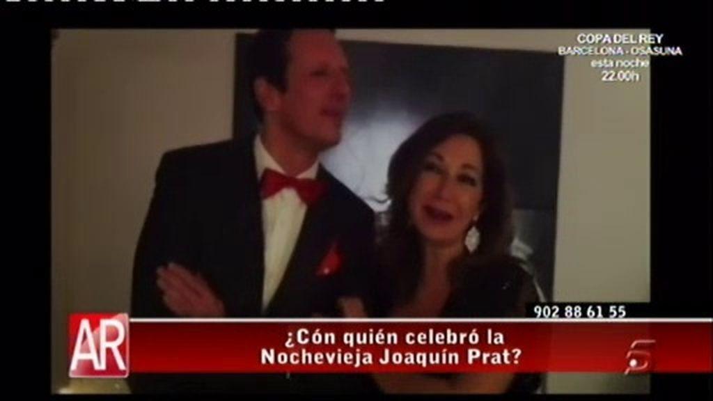 Joaquín Prat se va de Nochevieja con 'la jefa'