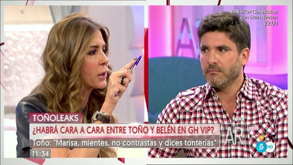 """Toño, a Marisa Martín: """"Mientes y además no contrastas la información"""""""