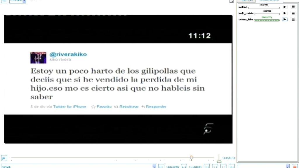 Twitter de Kiko Rivera mensaje