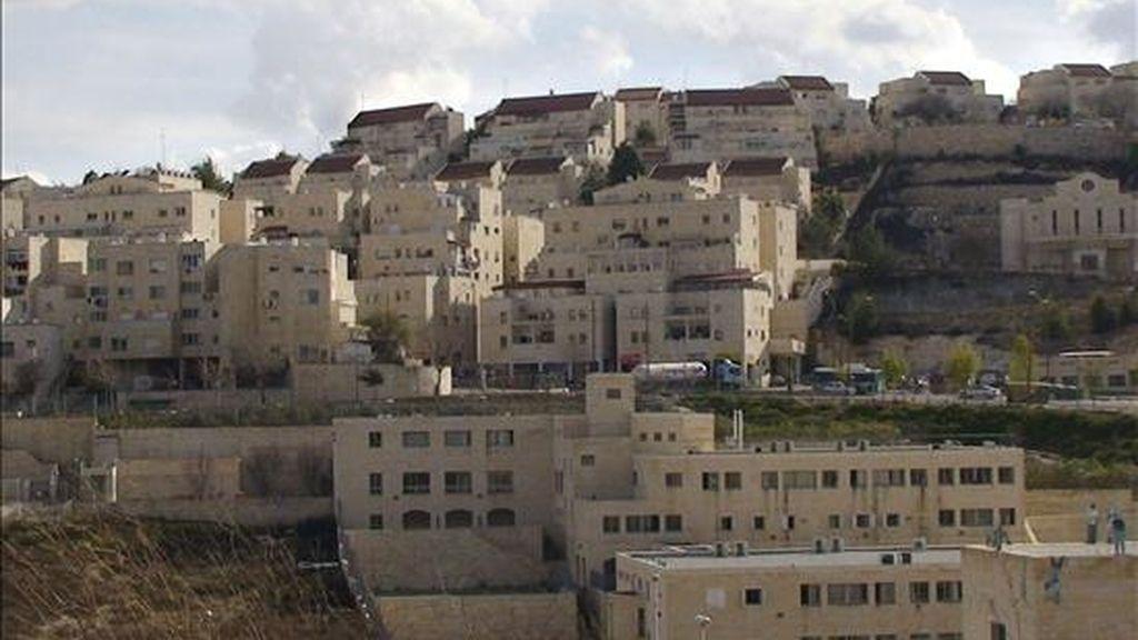 En la foto, el asentamiento israelí de Har Homa. EFE/Archivo