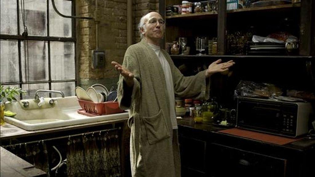 Fotografía facilitada por el Festival de Cine Tribeca que muestra al actor Larry David en una escena de la nueva comedia romántica del director Woody Allen, 'Whatever Works'. EFE