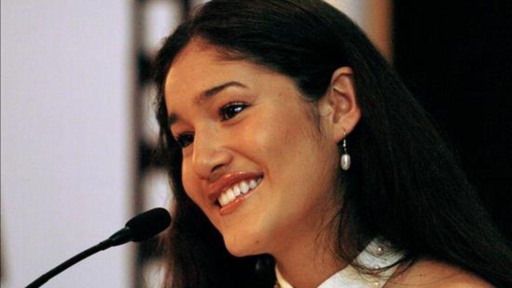 """La actriz Q'Orianka Kilchner, quien protagonizó junto a Colin Farrell el filme """"The New World"""", tiene previsto llegar hoy a Lima para visitar la Amazonía. EFE/Archivo"""