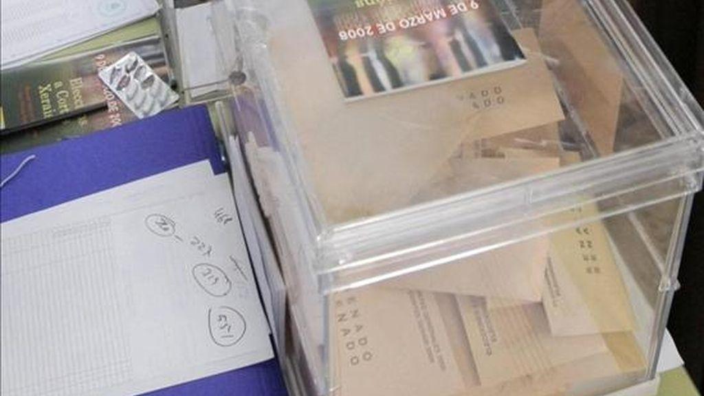 Una urna donde los votantes depositan su voto. EFE/Archivo