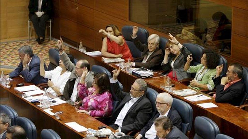El grupo de IU en la Asamblea de Madrid vota esta noche a favor de la nueva Ley de Cajas de Ahorros de la Comunidad de Madrid. EFE