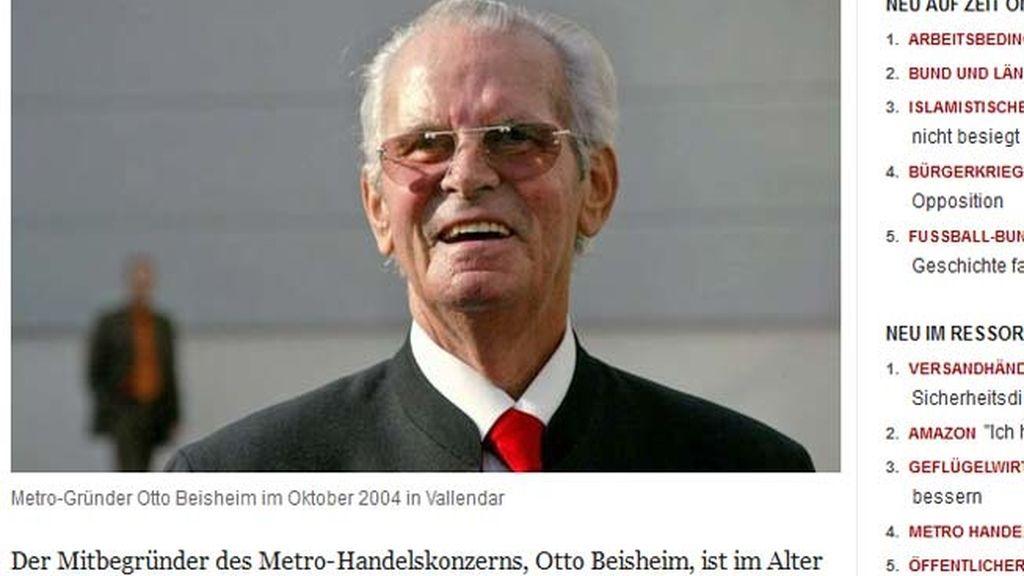 El millonario alemán Otto Beisheim se suicida a los 89 años tras diagnosticársele una enfermedad incurable