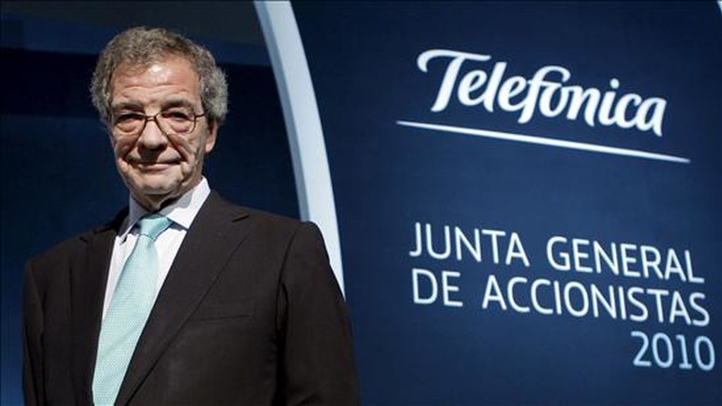 El presidente de Telefónica, Cesar Alierta. EFE/Archivo
