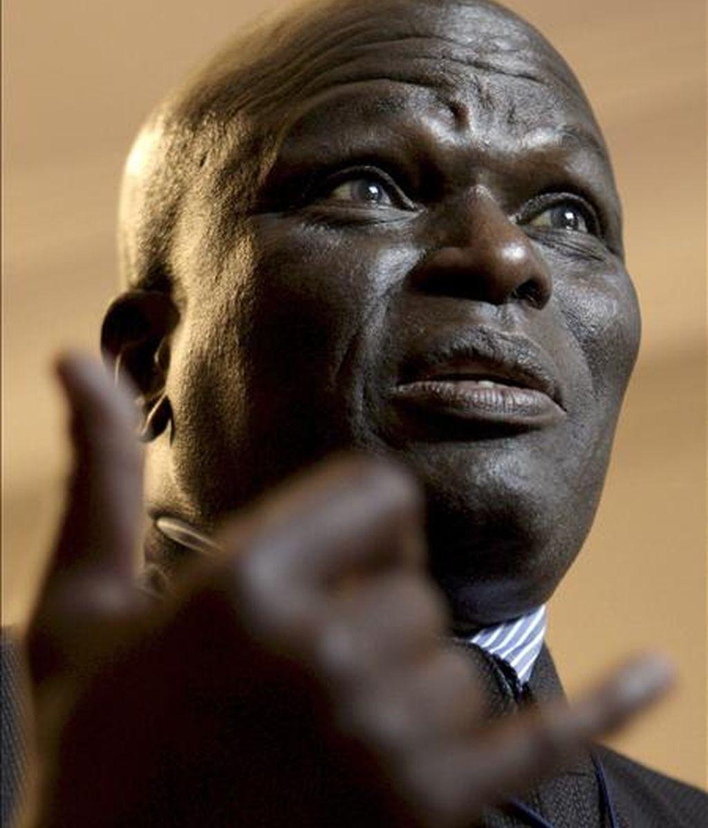 El relator de Naciones Unidas sobre la discriminación racial, el senegalés Doudou Diene. EFE/Archivo