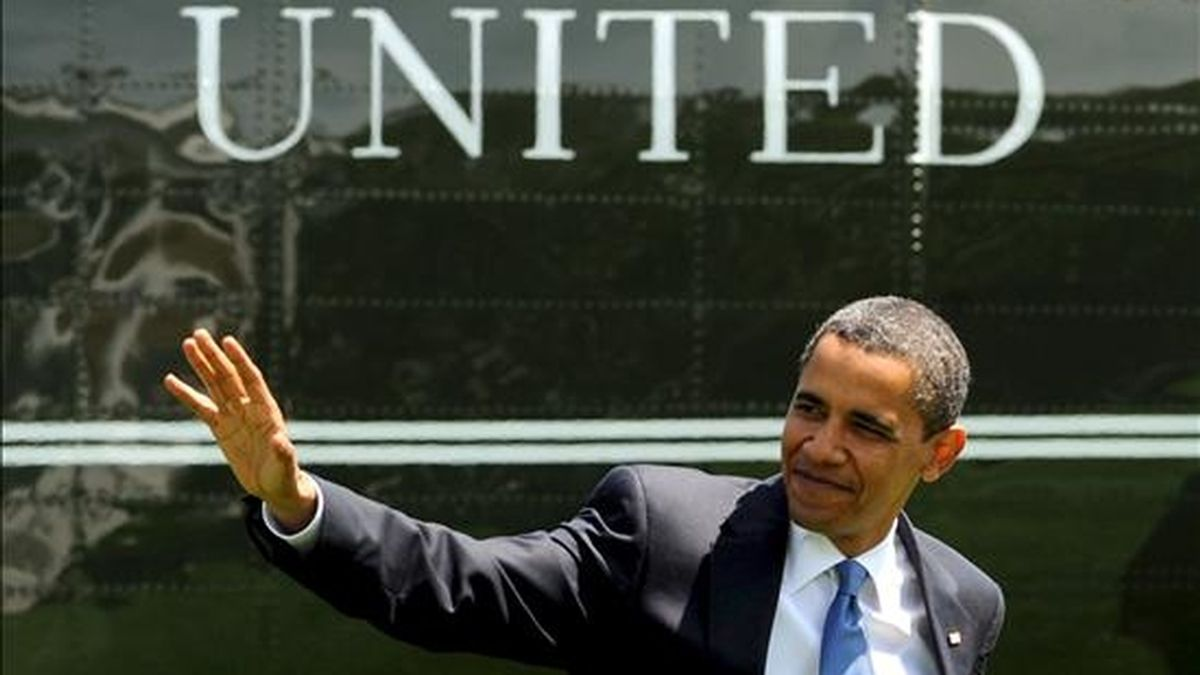 """Obama llega a  la Casa Blanca en el helicóptero """"Marine One"""", en Washington, DC, EEUU, ayer 1 de junio. EFE"""