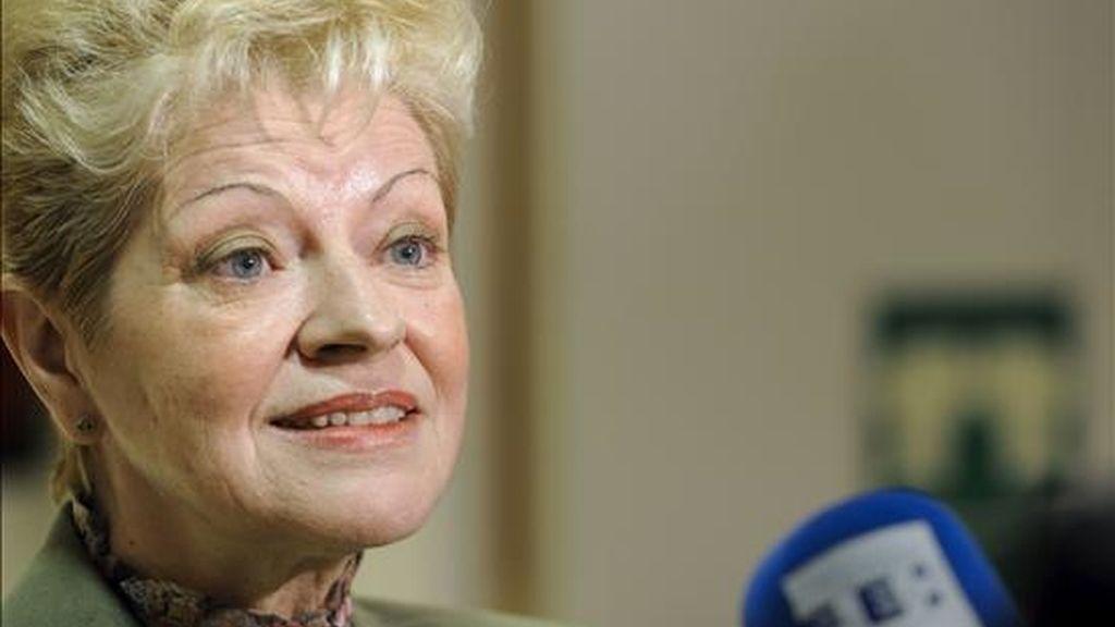 La ex directora de la Biblioteca Nacional, Milagros del Corral. Se ha propuesto ha Gloria Pérez Salmerón como nueva directora del centro. EFE/Archivo