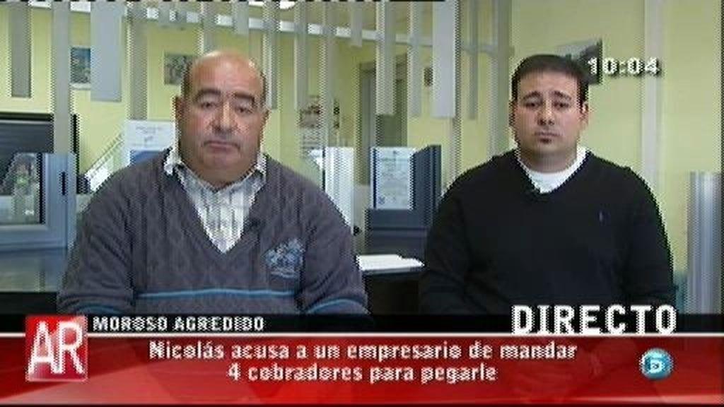 Nicolás acusa a un empresario de mandar 4 cobradores para pegarle