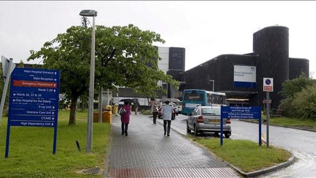 Una mujer con problemas de salud ha fallecido en un hospital de Glasgow. Foto: EFE.