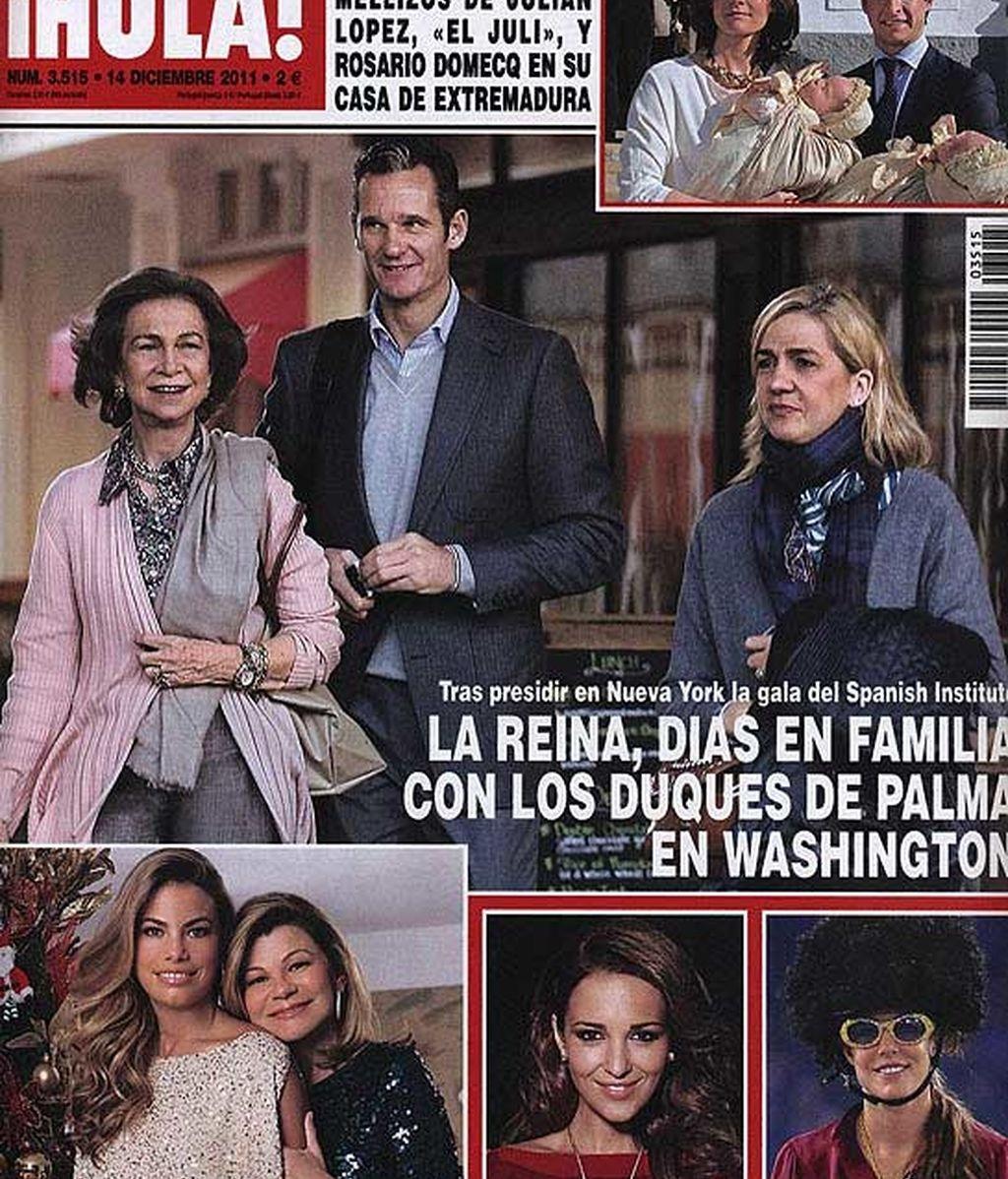 La Reina con los Duques de Palma