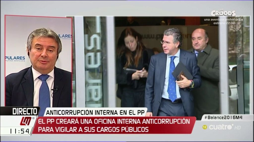 """Rubén Moreno (PP): """"El poder judicial no está ejerciendo su labor muy bien"""""""