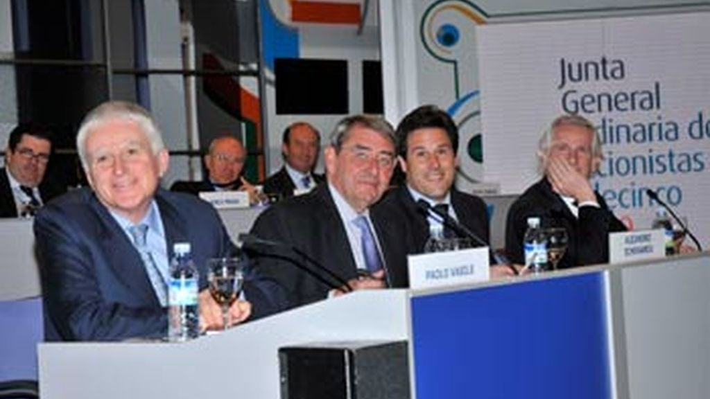 Detalle de la junta de accionistas de Telecinco. Foto: Telecinco