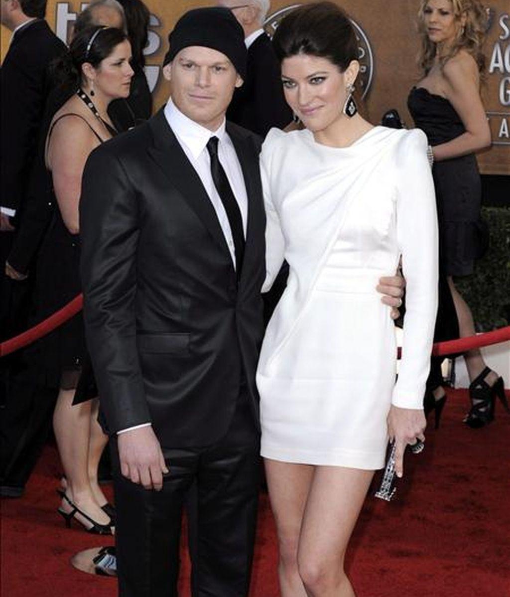 En la imagen, la actriz estadounidense Jennifer Carpenter y su esposo, el también actor Michael C. Hall. EFE/Archivo