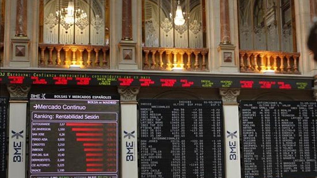 Vista del parqué de la Bolsa de Madrid. EFE/Archivo