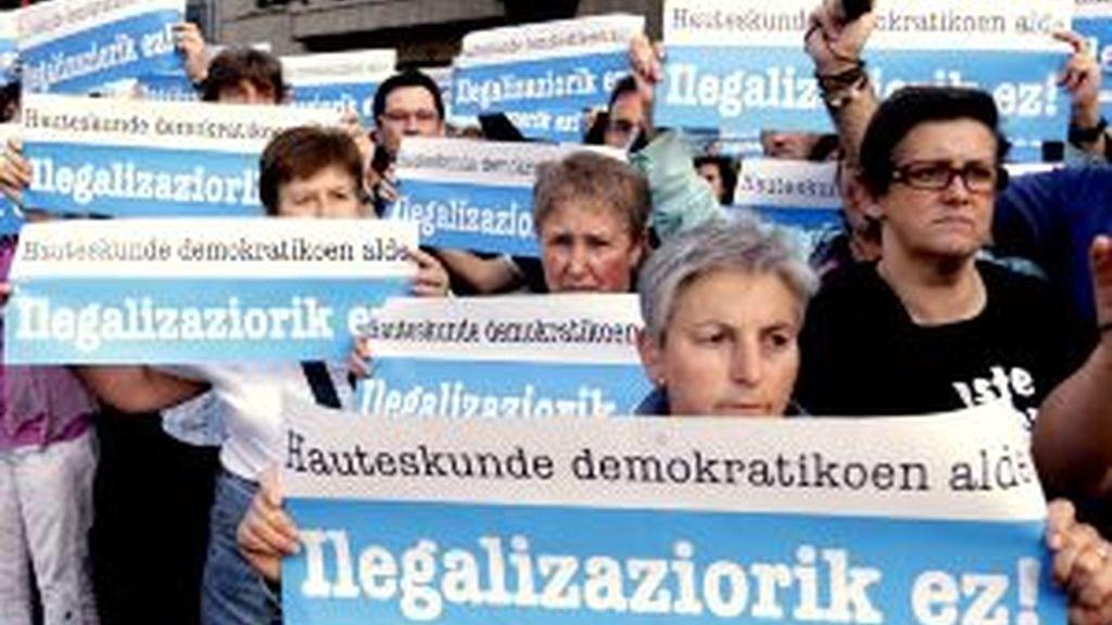 Manifestación en Bilbao. Vídeo: Informativos Telecinco.