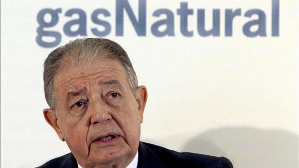 El presidente de Gas Natural, Salvador Gabarró. EFE/Archivo