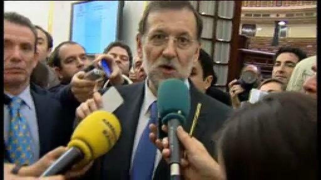 """Las primeras palabras de Rajoy: """"Me siento contento"""""""